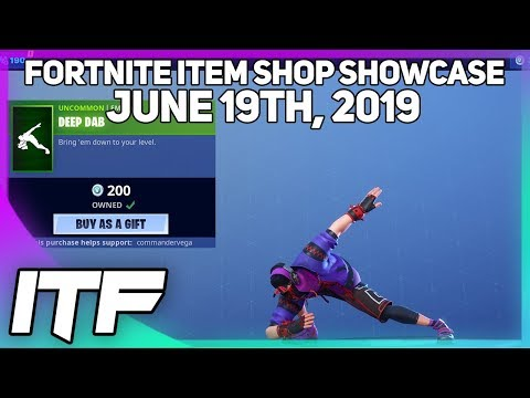 Fortnite Item Shop *NEW* DEEP DAB EMOTE! [June 19th, 2019] (Fortnite Battle Royale)