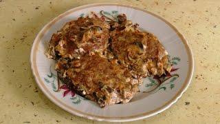 Биточки с сыром в грибном соусе / Pieces of cheese with mushroom sauce