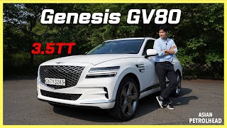 Genesis GV80 2021 on the road! We drove the 1st rear wheel driven SUV from the Genesis to the limit!