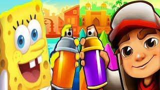 Subway Surfers Mumbai Vs SpongeBob Sponge iPad Gameplay HD