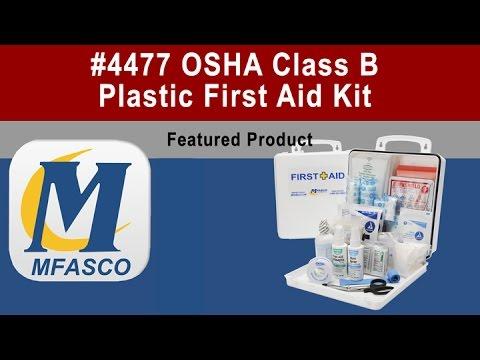 4477 ANSI 308.1-2015 class b OSHA first aid kit