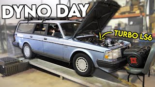 BIG TURBO LS6 Volvo Sleeper HITS THE DYNO! (makes huge power!!)