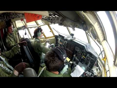 Inside C-130 Herc cockpit during first 3 minutes of takeoff