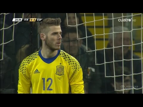 David De Gea vs Italy (Away) HD 720p (24/03/2016)