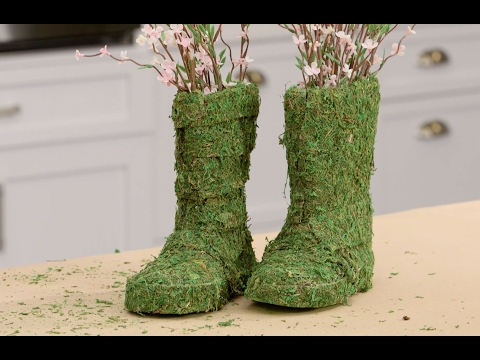 DIY Moss-Covered Rain Boots Decor | Southern Living