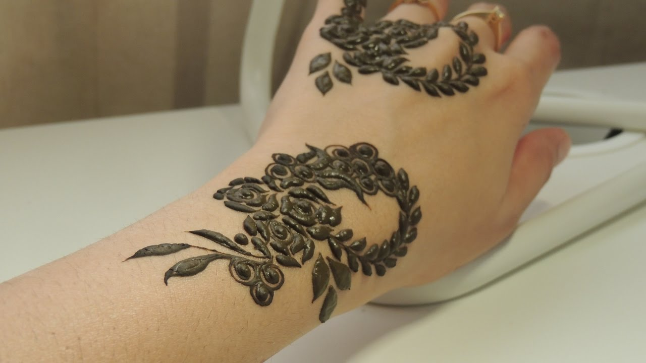 Khaleeji Henna Designs: Simple And Easy Khaleeji Henna