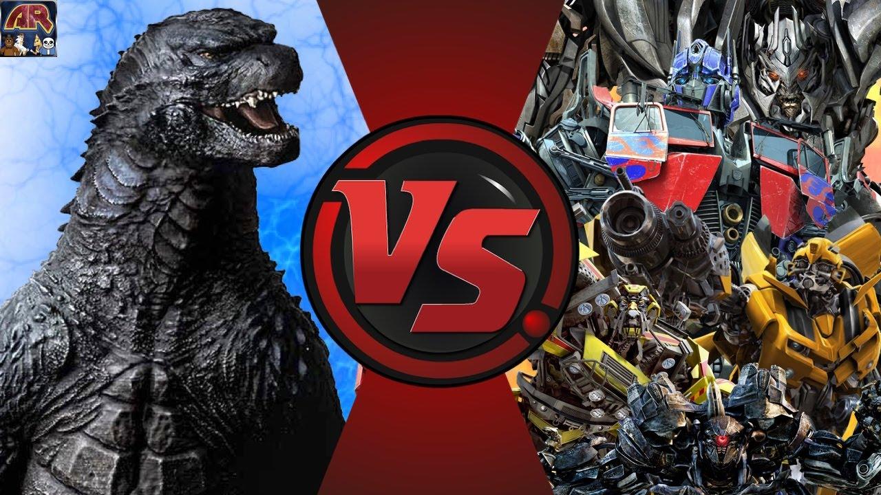 godzilla vs transformers total war godzilla vs optimus