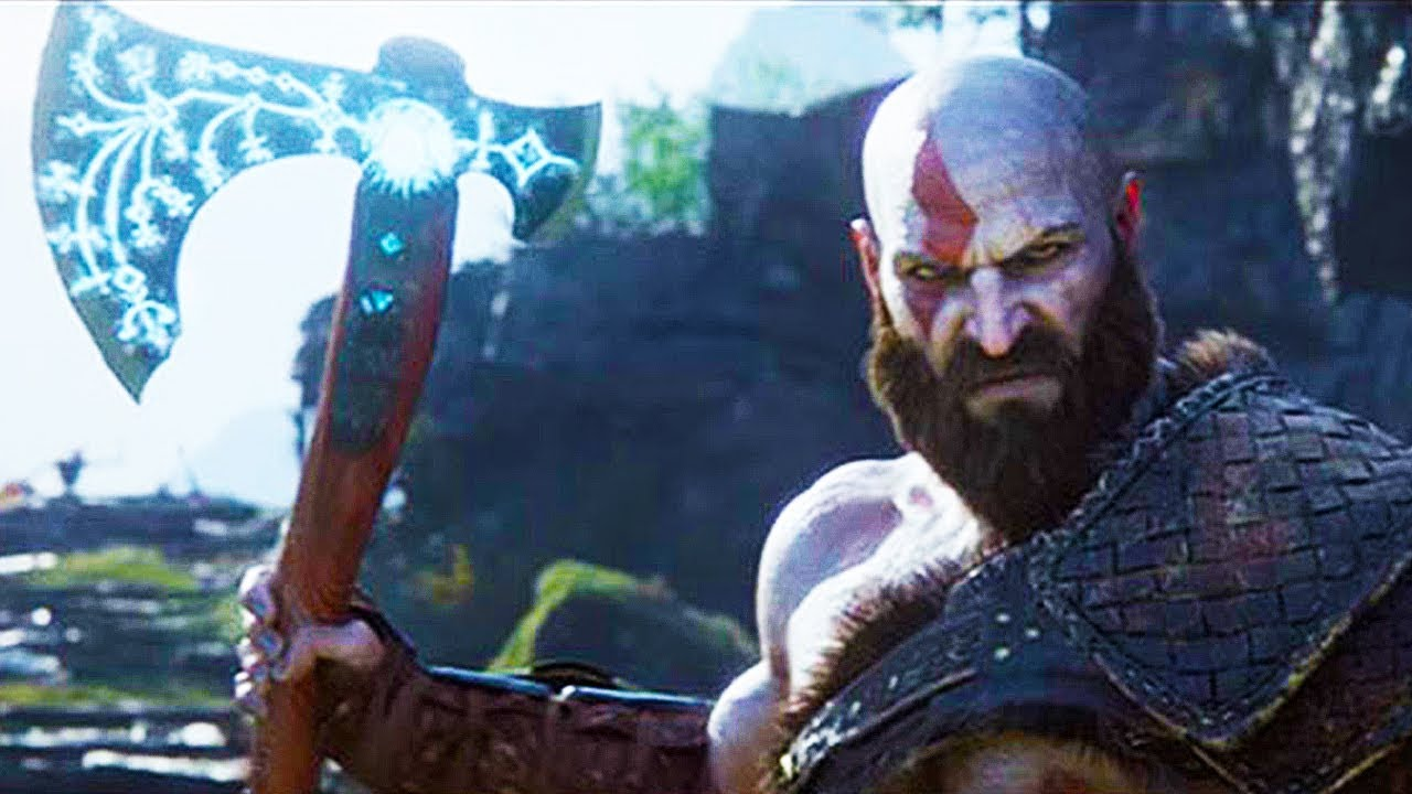 GOD OF WAR PS4 Combat Gameplay Trailer (PS4 2018) - YouTube