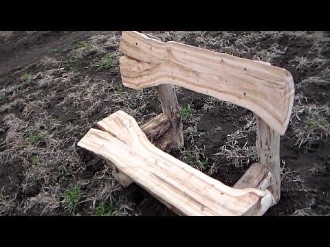 Как своими руками, сделать прикольную лавочку! Практически из дров!