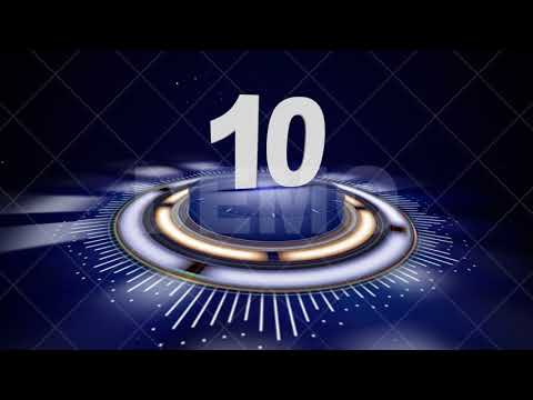 TOP TEN STOCK VIDEO FOOTAGE and COUNTDOWN Animation Rendering Background Loop, 4k