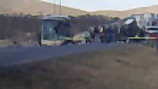 Accidente - Autobus vs Trailer