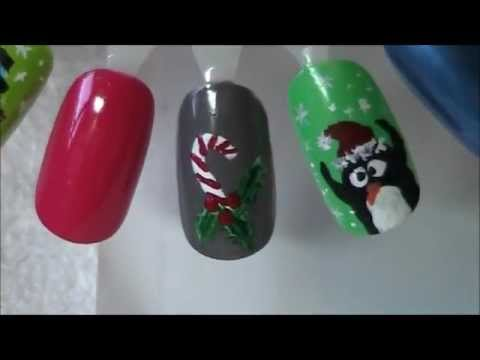Christmas Nail Design 10 Candy Cane Youtube