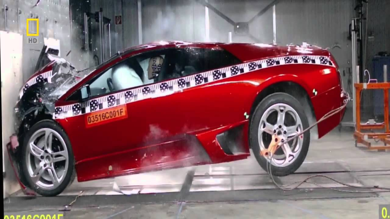 lamborghini murcielago crash test 720p - youtube