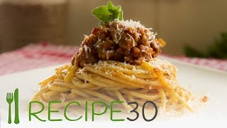 Spaghetti Bolognese recipe with pork and beef by www.recipe30.com