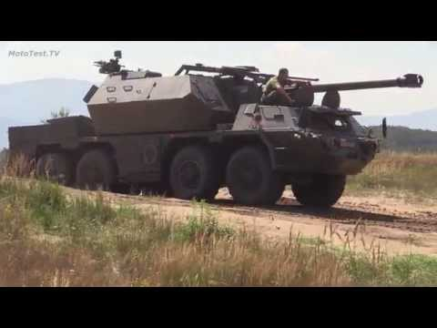Armored military machines - demonstration