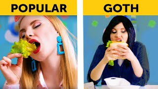 17 TYPES OF STUDENTS AT THE SCHOOL LUNCH    Back to school by 5-Minute FUN