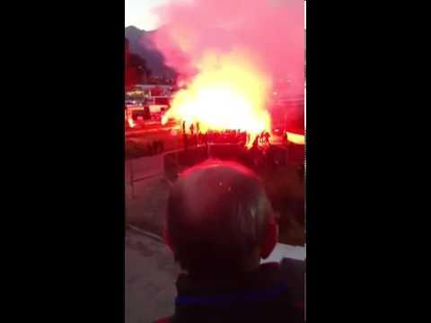 Arrival Ajaccio fans