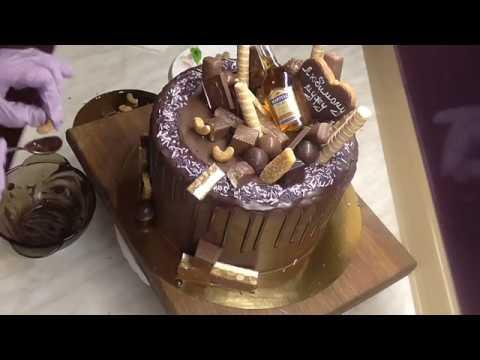 Как украсить торт мужчине