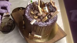 Шоколадный торт.Торт для мужчины.Chocolate cake. Cake for men-Юлия Клочкова