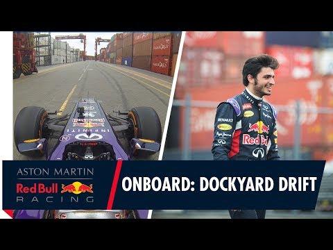 On Board with Carlos Sainz as he drifts the docks in Peru!