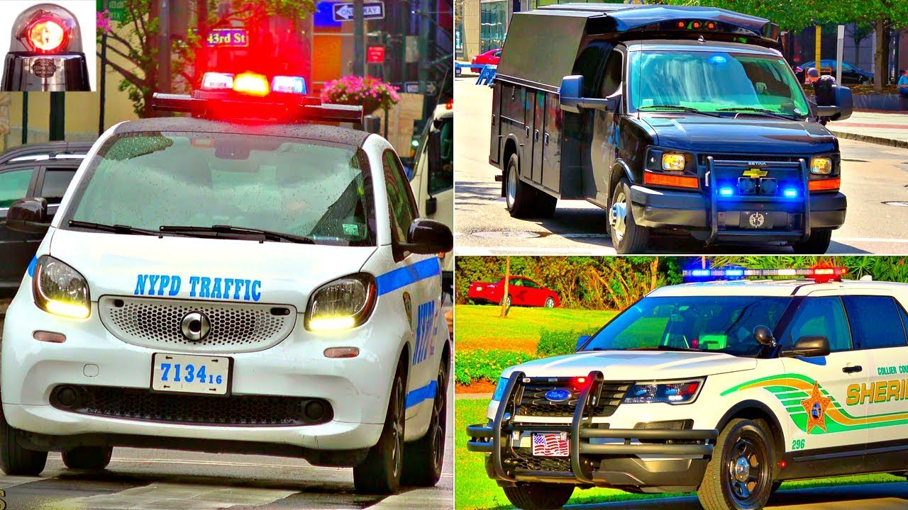 Police Cars Responding Compilation - BEST OF 2017 - NYPD Smart Cars, Lights, Sirens