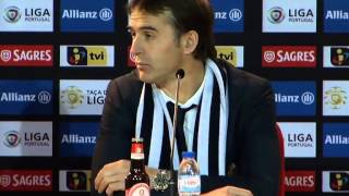Futebol: Julen Lopetegui (Sporting de Braga-FC Porto, 1-1, Taça da Liga, 21/01/2015)