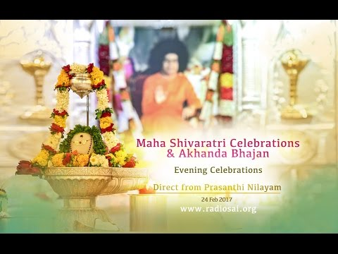 Maha Shivaratri Evening Celebrations at Sathya Sai Baba Ashram - 24 Feb 2017 | Lingam Abhisheka