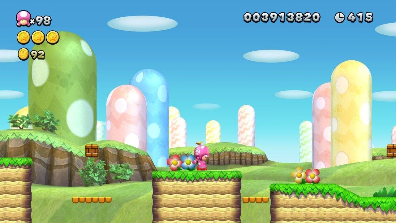 First Custom Background New Super Mario Bros U Deluxe Youtube