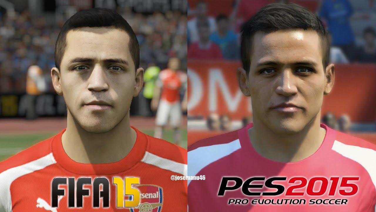 FIFA 15 vs PES 2015 ARSENAL Face Comparison - YouTube