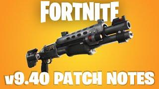 Fortnite Battle Royale v9.40 Patch Notes & Gameplay | Legendary Tactical Shotgun | Suppressed Sniper