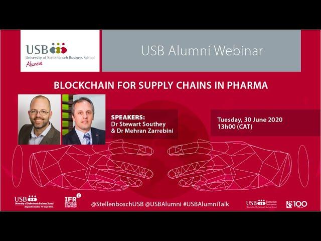 USB Alumni Webinar | Dr Stewart Southey and Dr Mehran Zarrebini | 30 June 2020