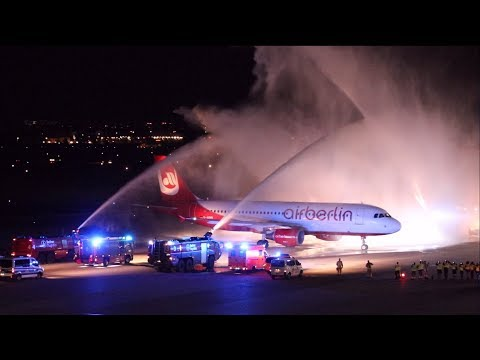 AIR BERLIN FOREVER with ATC | Last Air Berlin flight arriving at Berlin-Tegel