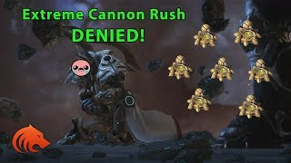 StarCraft 2: EXTREME Cannon Rush...DENIED!