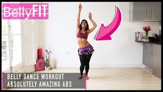Flat-Belly Standing Abs | Belly Dance Workout