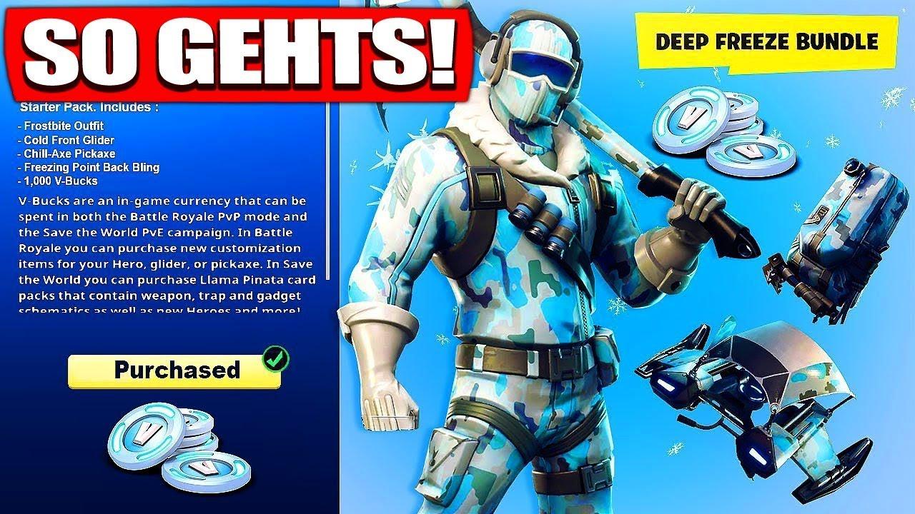 Fortnite Deep Freeze Skin Bundle Bekommen So Gehts Fortnite