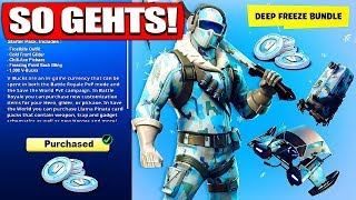 Fortnite DEEP FREEZE SKIN BUNDLE! SO GEHTS! - Fortnite Battle Royale - France Le nain de fruit