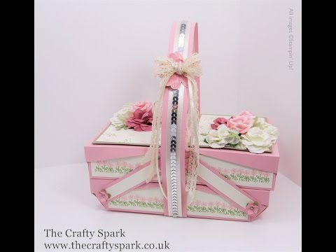 Pretty in Pink Cantilever Picnic Box Tutorial  - part 1 of 2