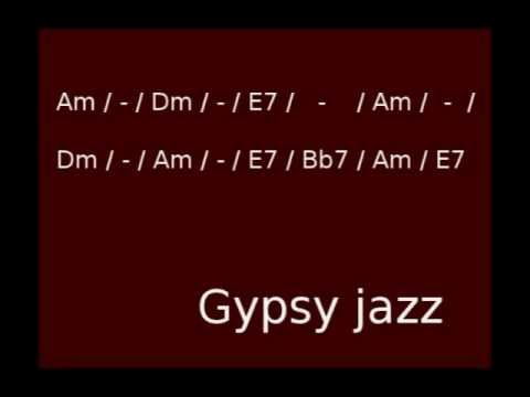Minor Swing Gipsy Jazz Backing Track in Am