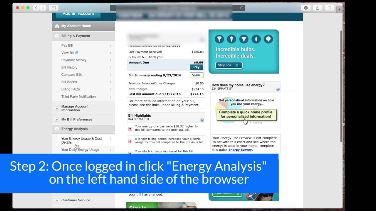 How To Find Your Energy Usage Duke Energy Youtube