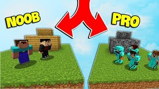 2 NOOBS VÀ 100 PRO TRONG MINECRAFT BED WARS 😭