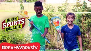 Water Balloon Lacrosse Minton | WHEN SPORTS COLLIDE