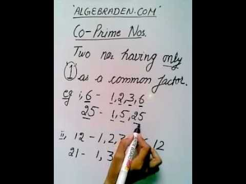 Coprime Numbers Tutorial - YouTube
