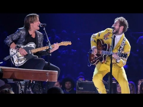 Post Malone & Kieth Urban Duet at #ElvisAllStarTribute