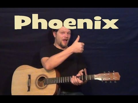 The Phoenix (Fall Out Boy) Easy Guitar Lesson Strum Chords How to Play Tutorial with Licks