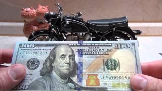 видео Презентация новой 100-долларовой банкноты