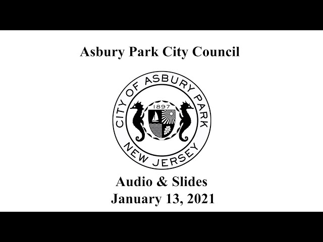 Asbury Park City Council - January 13, 2021