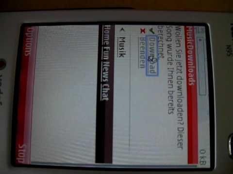 Vodafone N95 music download failure