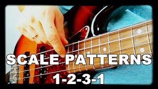 walking bass lessons l2 scale patterns 1 2 3 1