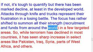 objectives of terrorism? Has terrorism increased in the past few decades? Discuss