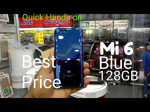 Hindi | Mi6 Blue 128GB Compared with caramic Black Available In Dubai